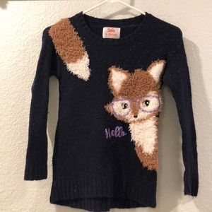 Justice knitted sweater